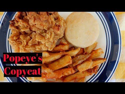 Popeye's Copycat | Fried Chicken | Cajun Fries | Biscuit