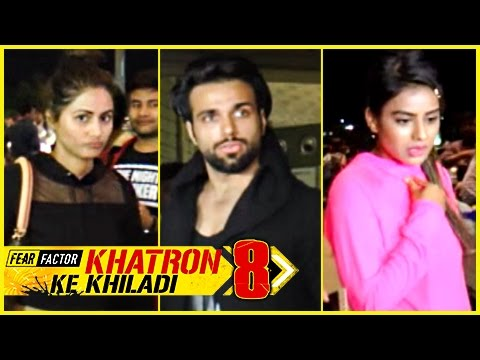 Hina Khan, RIthwik Dhanjani, Nia Sharma Leave For Spain   Khatron Ke Khiladi 8