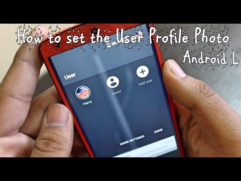How to set the User Profile Photo(Android L)