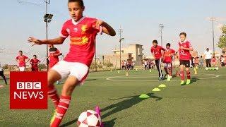 Aspiring footballers in Mo Salah