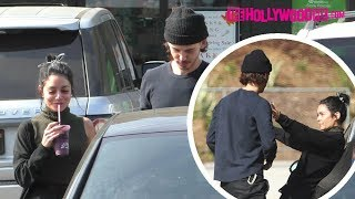 Vanessa Hudgens & Austin Butler Pull Over For A Make Out Session After Picking Up Smoothies