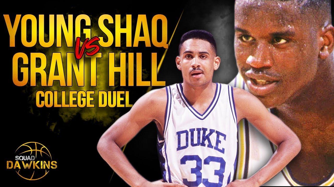 Young LSU Shaq BULLiED Grant Hill x Duke   February 8, 1992   SQUADawkins