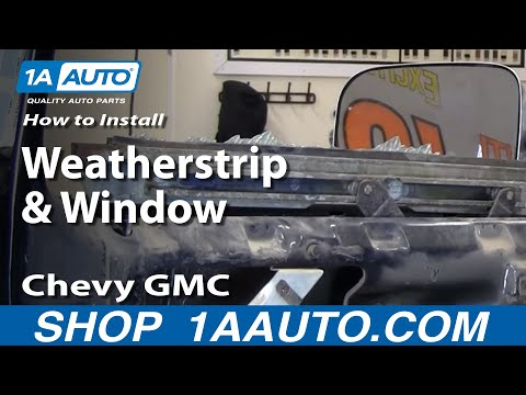 How to Install Replace Weatherstrip & Window 73-87 Chevy GMC Pickup Truck & SUV part 1 1AAuto.com