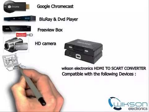 how to connect chromecast to Scart TV