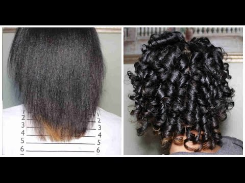 New Hair Journey | Heatless Curls on Relaxed Hair | JourneyToWaistLength