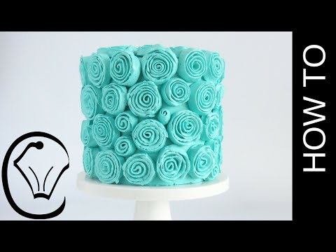 Easy Buttercream Ribbon Rose Spiral Cake by Cupcake Savvy's Kitchen