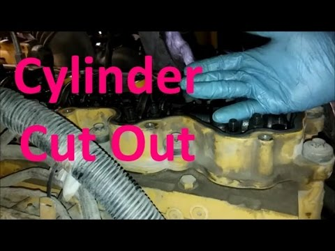 How To Do A Cylinder Cut Out Test and Check for Weak Injectors.  Cat, Cummins, Detroit.