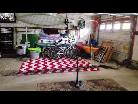 Garage hitting cage. Everyone should have one!