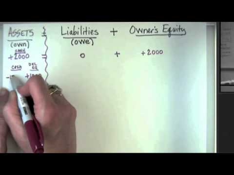 Analyzing Transactions Using the Accounting Equation