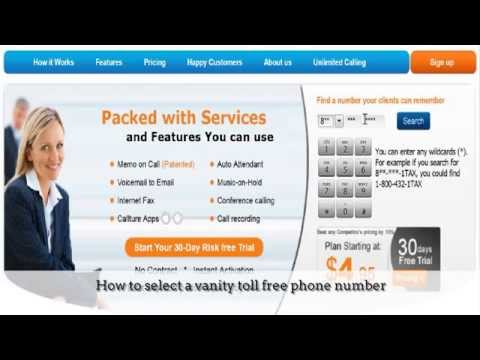 How to find a free vanity toll free phone number