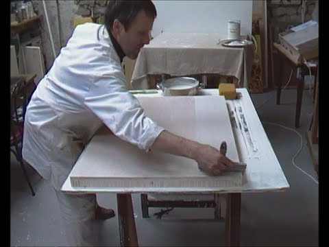 How to apply traditional gesso
