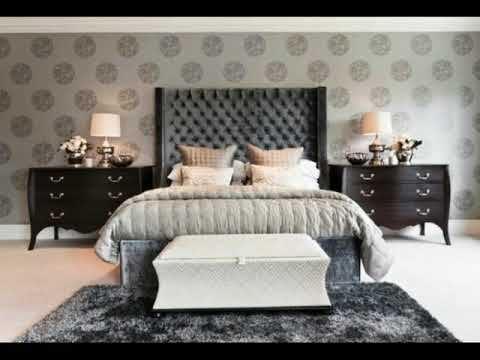 Gray Wallpaper for Master Bedroom