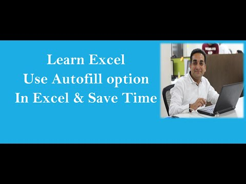 MS Excel : Autofill In Excel Hindi An Efficient Time Saving Trick