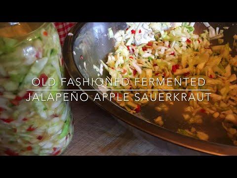Super Probiotic Jalepano Apple Lacto-Fermented Sauerkraut: Homesteading Family