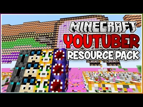The YOUTUBER Minecraft Resource Pack!!