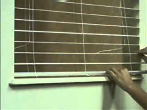 How to replace a slat for horizontal blinds