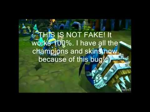 League of Legends bug! Free RP and champs Jinx Patch | Still work | 50 000 RP lol