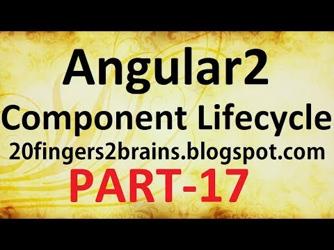 Angular 2 - Component Lifecycle