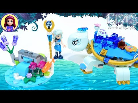 Lego Elves Naida & the Water Turtle Ambush Build Review Silly Play Kids Toys