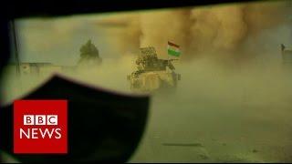 Inside the Kurdish advance on Mosul - BBC News