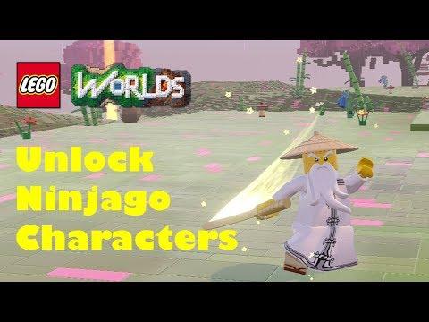 Lego Worlds - All Ninjago Characters Unlock