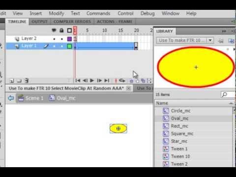 Flash Tutorial 10 Select Random Movie Clip