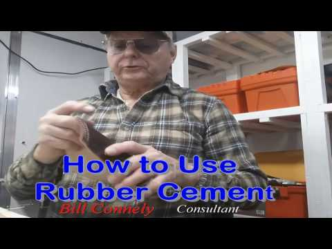 How to Use Rubber Cement - on Leather