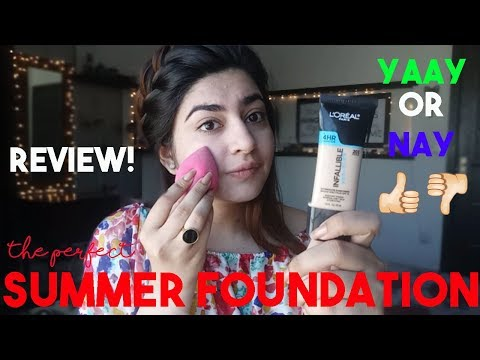 Perfect Foundation For Summers?? | LO'real Infallible PRO-GLOW Review | Glossips