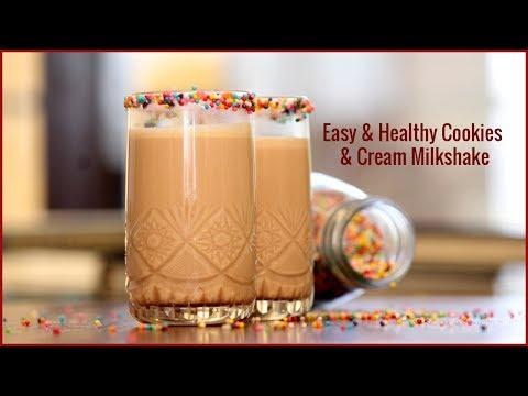 3 Ingredient | Easy & Healthy Cookies & Cream Milkshake | Recipe