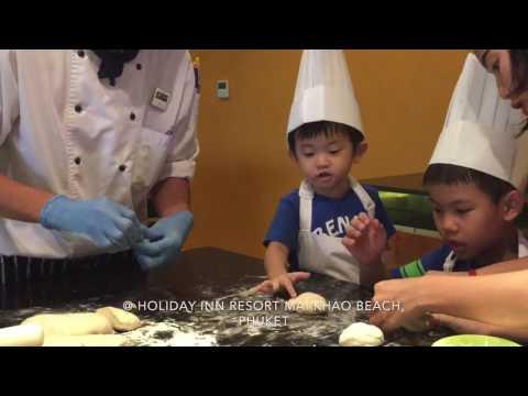 Fancy Soft Bread Roll making @ Holiday Inn Resort Mai Khao Beach, Phuket Thailand