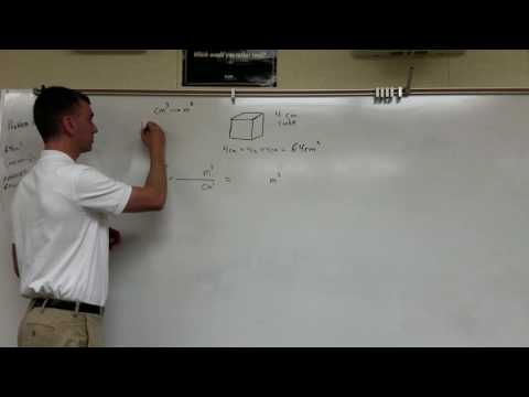 Volume Conversion Cubic Centimeters to Cubic Meters (Holguin Method)