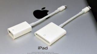 Apple iPad Lightning to USB Camera Adapter & SD Card Reader: Demo (Camera Connection Kit)
