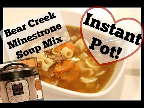 How to:  Bear Creek Minestrone Soup Mix // Instant Pot Pressure Cooker