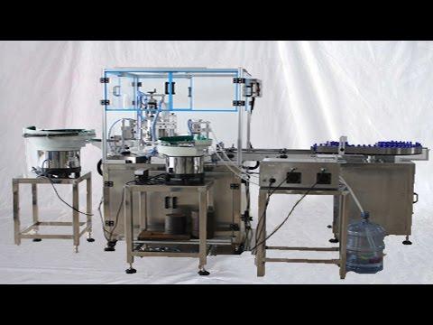 Operation of essential oil filler-capper-labeller for Canadian Machines d'embouteillage d'huile