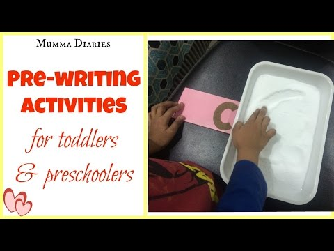 How to encourage Pre-writing skills in toddlers & Preschoolers