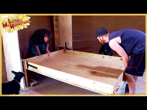 Murphy Bed Springs into Action!  | Underground Earthbag Building Ep 31 | Weekly Peek