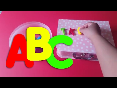 LEARN WORDS & SPELLING WITH COLORED LETTERS FOR TODDLERS
