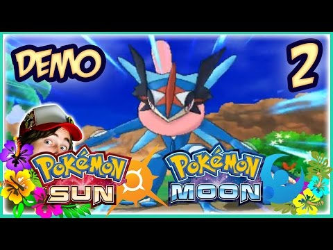 Ash Greninja Battle! Pokemon Sun and Moon DEMO: Part 2