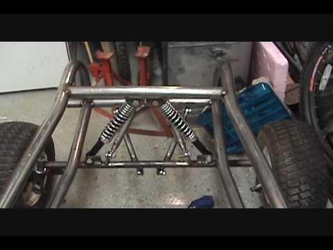 Go Kart Four Link Front Suspension Completed