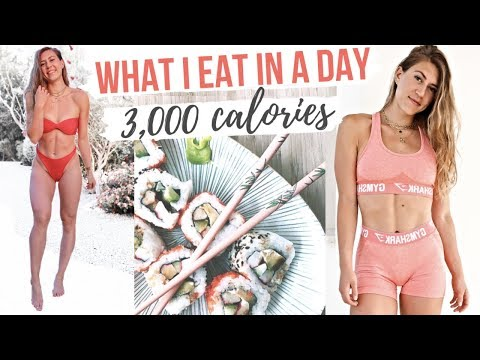 WHAT I EAT IN A DAY | 3,000+ CALORIES 😳🤸‍♀️