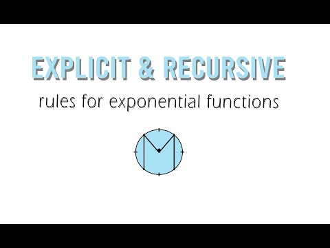 Algebra 2: Explicit/Recursive Rules for Exponential Tables