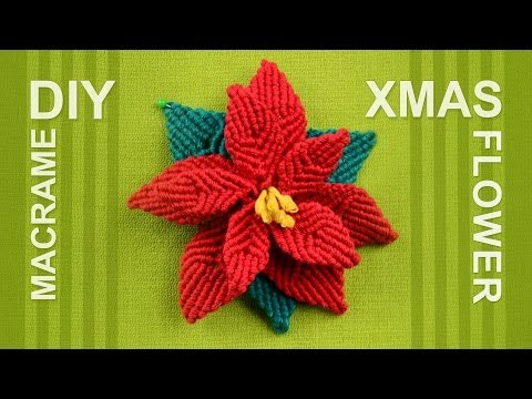 How to make Christmas Flower (Poinsettia)
