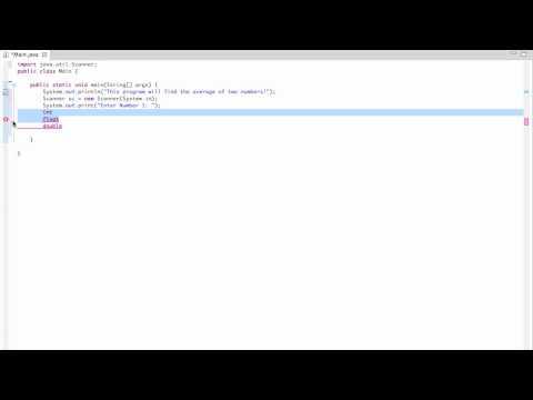 Java Tutorial 2 - User Input