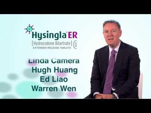 Hysingla ER CEO Message