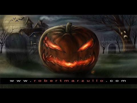 Happy Halloween - Digital Painting Pumpkin Monster Video - Photoshop