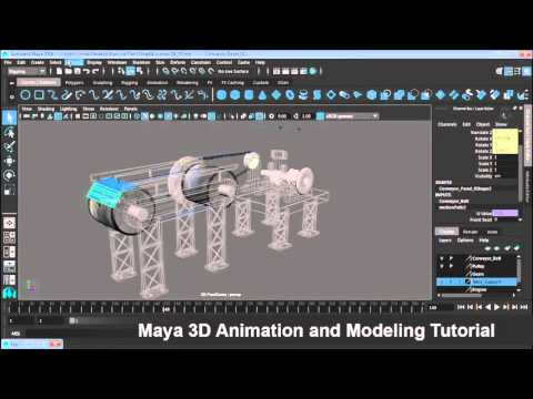 Maya 3D Animation and Modeling Part022 Add the remaining panels