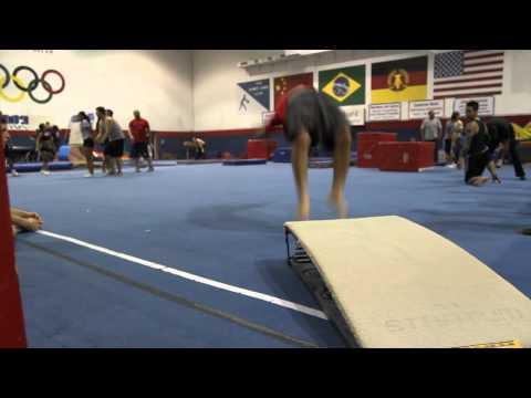 Practicing Fast Back Handsprings- improving speed