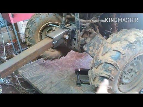 HOMEMADE ATV SNOW PLOW BUILD