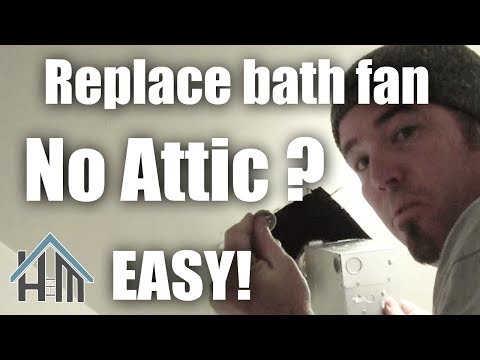 how to install replace bath exhaust fan, no attic! Easy! Home Mender