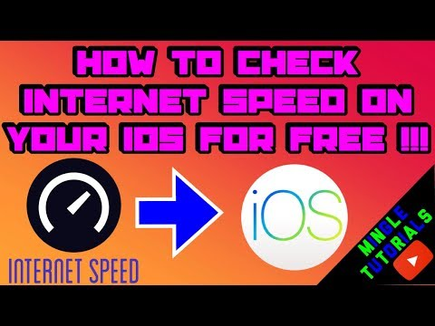 How To Check Internet Speed On Your iOS FOR FREE !!!
